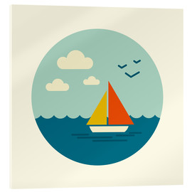 Acrylic print  Little sailboat - Kidz Collection