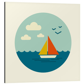 Aluminium print  Little sailboat - Kidz Collection