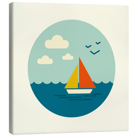 Canvas print  Little sailboat - Kidz Collection