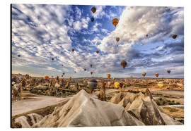 Alu-Dibond  Balloon spectacle Cappadocia - Turkey - Achim Thomae