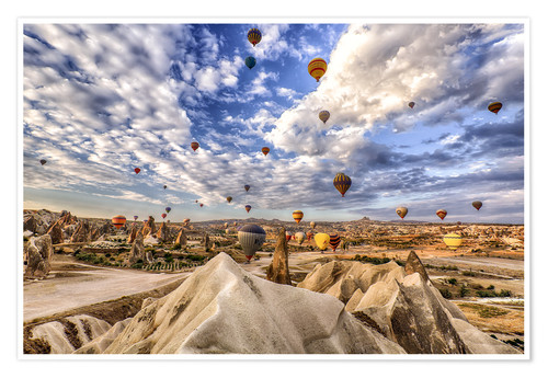 Balloon Spectacle Cappadocia Turkey Posters And Prints