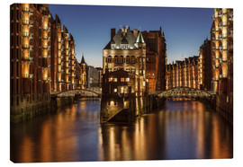 Canvas  Water Castle - Warehouse District - Hamburg - Germany - Achim Thomae