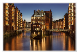 Premium poster  Warehouse District, Hamburg, Germany - Achim Thomae