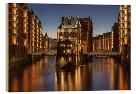 Wood print  Warehouse District, Hamburg, Germany - Achim Thomae