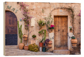 Wood print  Old Town in Valldemossa (Mallorca, Spain) - Christian Müringer