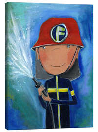 Canvas print  My little hero Fireman Julius - Atelier BuntePunkt