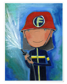 Poster  My little hero Fireman Julius - Atelier BuntePunkt