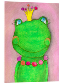 Acrylic glass  The Frog Queen and the colorful crown - Atelier BuntePunkt