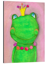Alu-Dibond  The frog queen and the colorful crown - Atelier BuntePunkt