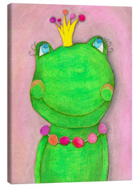 Canvas  The Frog Queen and the colorful crown - Atelier BuntePunkt