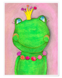 Premium poster The frog queen and the colorful crown