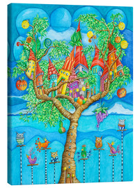 Canvas print  the story of the tree house and his friends - Atelier BuntePunkt