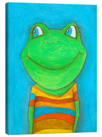Canvas  Good mood frog - Atelier BuntePunkt