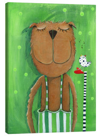 Canvas  Mr. Bear loves music - Atelier BuntePunkt