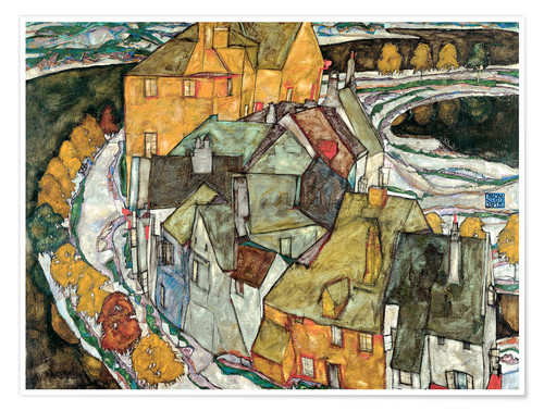 Premium poster Crescent of Houses II (Island Town)