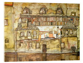 Acrylic print  House on a River (Old House I) - Egon Schiele
