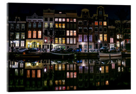 Acrylic print  Amsterdam   Keizersgracht in a mirror - Sabine Wagner