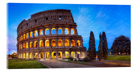 Acrylic print  Coliseum in Rome Italy - Jan Christopher Becke