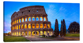 Canvas print  Coliseum in Rome Italy - Jan Christopher Becke