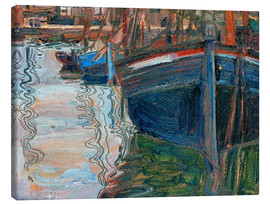 Canvas print  Boats reflected in the water - Egon Schiele