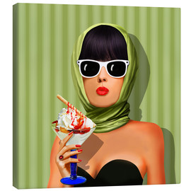 Canvas print  Summer love, summer, sun and ice cream - Monika Jüngling