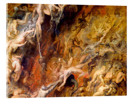 Acrylic print  Hell of the Damned (Detail) - Peter Paul Rubens