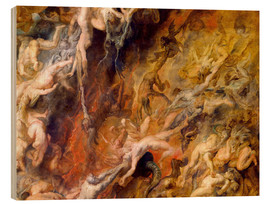 Wood print  Hell of the Damned (Detail) - Peter Paul Rubens