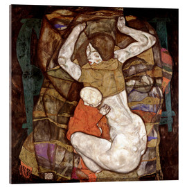 Acrylic print  Young mother - Egon Schiele