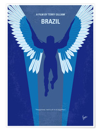 Premium poster No643 My Brazil minimal movie poster