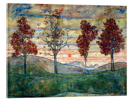 Acrylic glass  Four trees - Egon Schiele