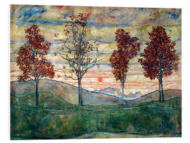Foam board print  Four trees - Egon Schiele