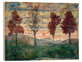 Wood  Four trees - Egon Schiele