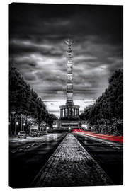 Canvas print  Victory Column Berlin in the evening - Sören Bartosch