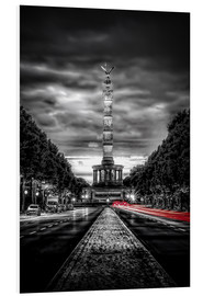 Foam board print  Victory Column Berlin in the evening - Sören Bartosch