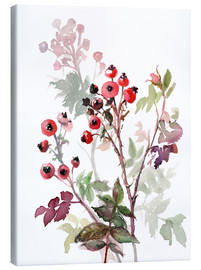 Canvas print  Rosehips - Verbrugge Watercolor