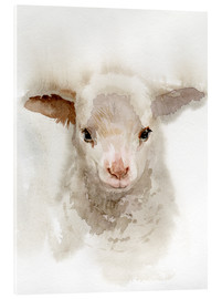 Acrylic print  Lamb Watercolor - Verbrugge Watercolor