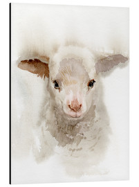 Aluminium print  Lamb Watercolor - Verbrugge Watercolor