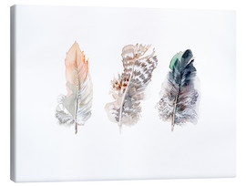 Canvas  3 feathers - Verbrugge Watercolor