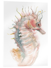 Acrylic glass  Seahorse - Verbrugge Watercolor