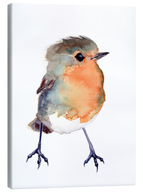 Canvas  Baby robin in watercolour - Verbrugge Watercolor