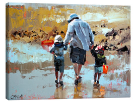 Canvas print  Dad and the boys - Claire McCall