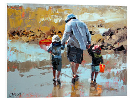 Foam board print  Dad and the boys - Claire McCall