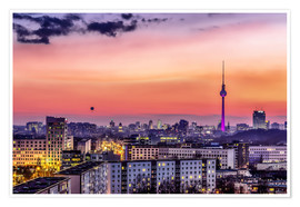 Premium poster Berlin skyline in summer