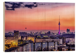 Wood print  Berlin skyline in summer - Sören Bartosch