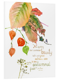 Foam board print  Autumn Quote John Donna - Verbrugge Watercolor