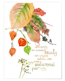 Premium poster Autumn Quote John Donna