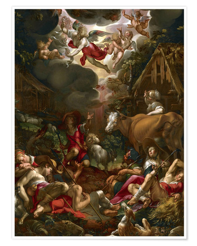 Premium poster Annunciation to the Shepherds