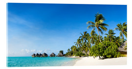 Acrylic print  Vacation on a desert island in the Caribbean - Jan Christopher Becke