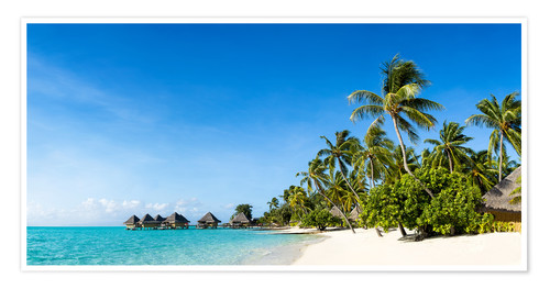 Premium poster Vacation on a desert island in the Caribbean