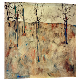 Acrylic glass  Bare Trees - Egon Schiele